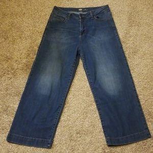 Old Navy Wide Leg Crop Jean